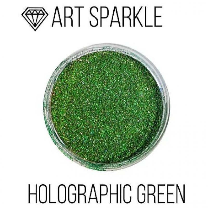 Глиттер мелкий д, Holografic Green, 50 гр