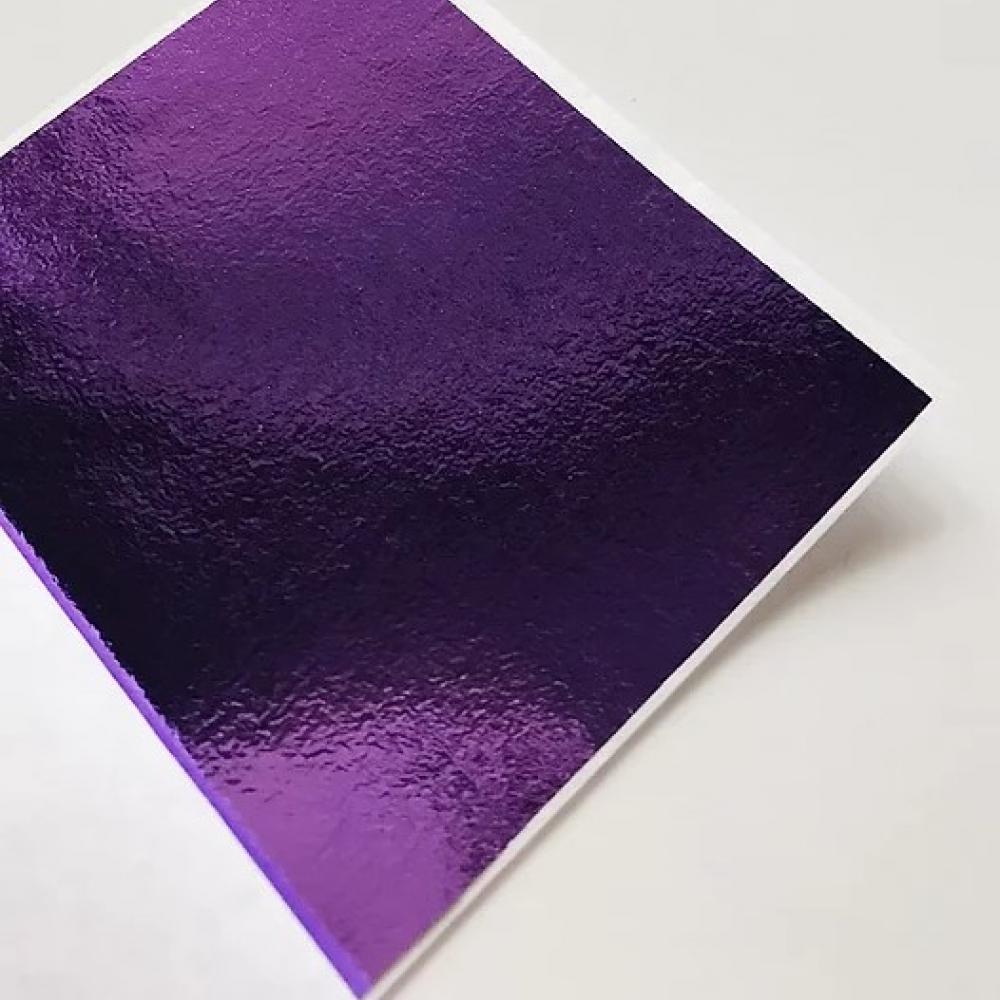 """Поталь зеркальная """"Mirror Shine"""", Violet, 90 или 45 шт. 8*8,5 см. (для заказа выбрать кол-во листов)"""