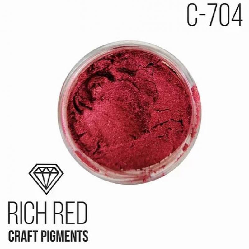 """Пигмент CraftPigments Кристаллический Роскошный красный """"Crystal Rich Red"""", 25 мл."""