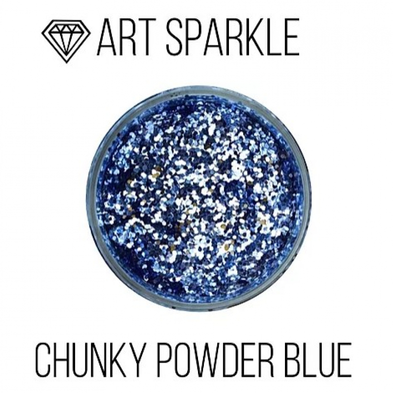 Глиттер крупный с, Chunky Powder Blue, 50 гр