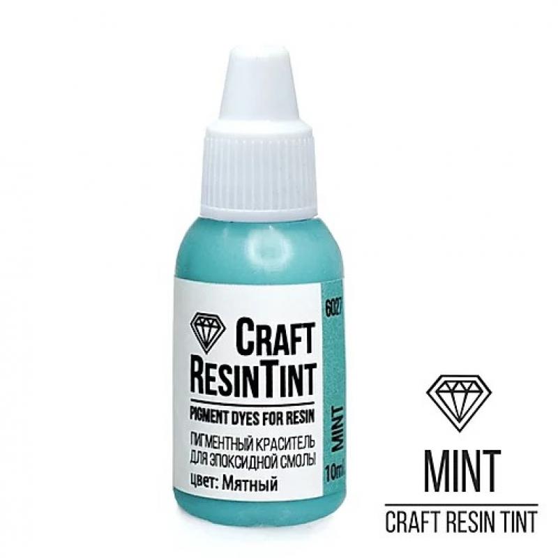 Краситель для смолы и полимеров CraftResinTint, с, Мятный, 10 мл.
