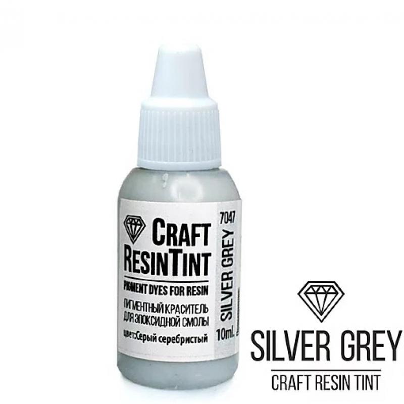 Краситель для смолы и полимеров CraftResinTint, я, Серый серебристый, 10 мл.