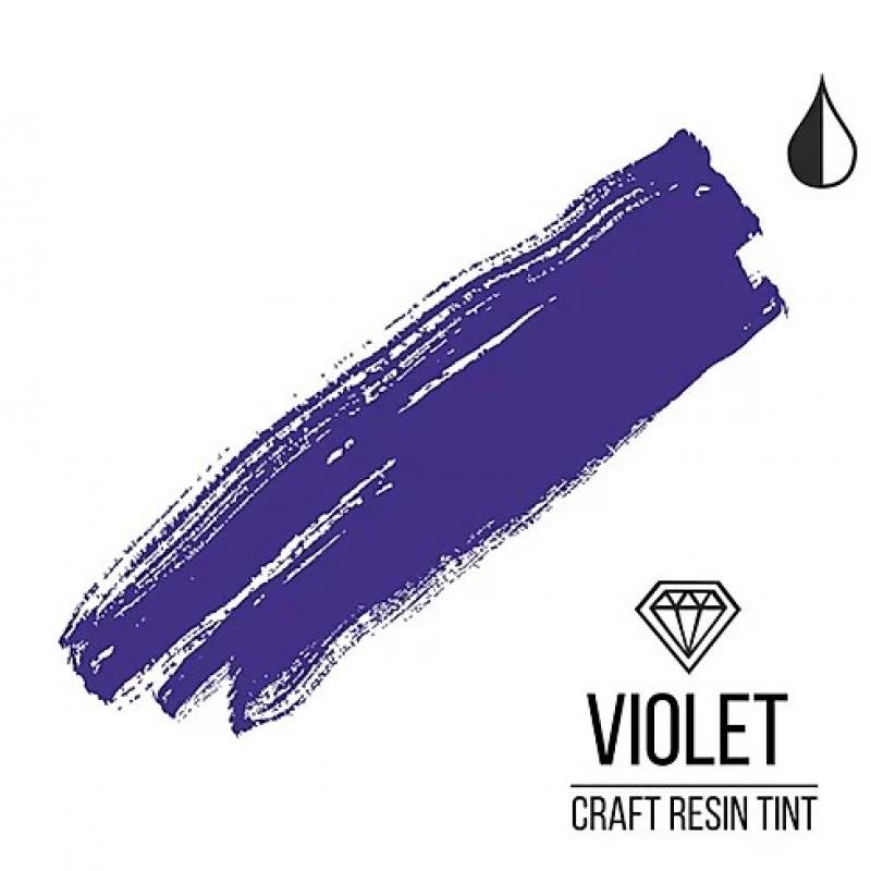 Краситель для смолы и полимеров CraftResinTint, Фиолетовый, полупрозрачный, 10 мл.