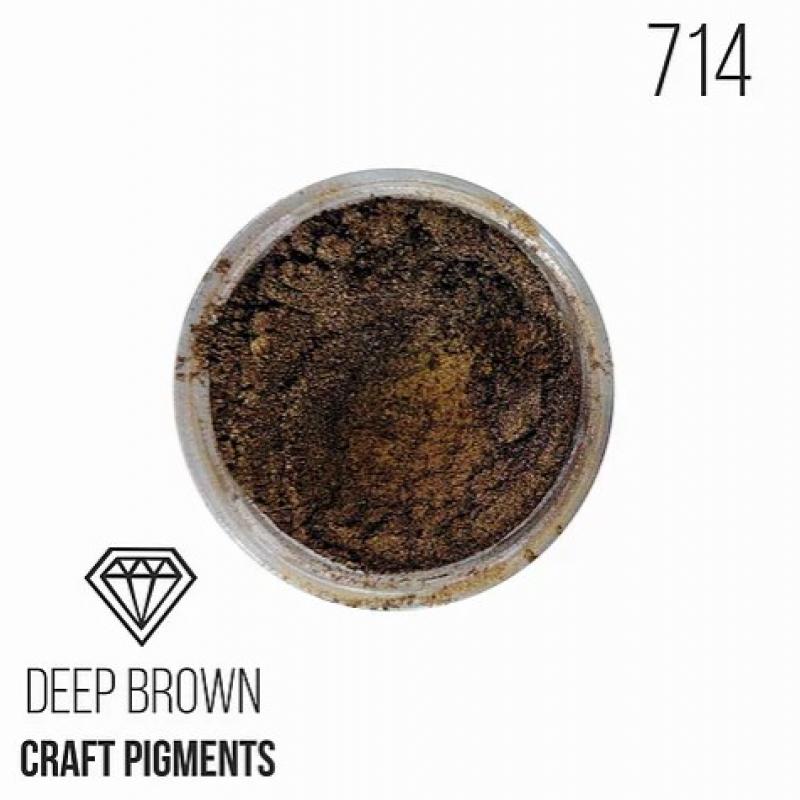 """Пигмент CraftPigments, ш, Темно-коричневый """"Deep brown"""", 25 мл."""