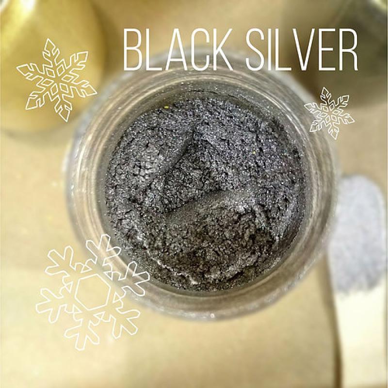 "Пигмент CraftPigments, а, Темное серебро ""Black Silver"", 25 мл."