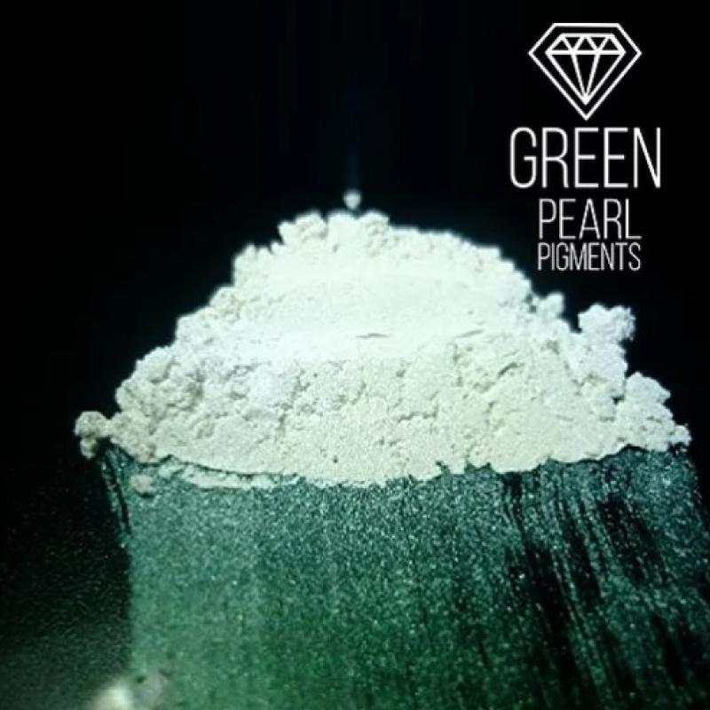"Пигмент CraftPigments Pearl ""Green"", зеленый, 25 мл."