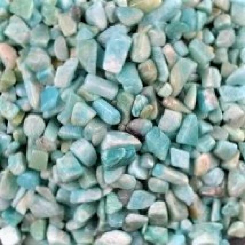 Амазонит галтовка (фракция 5 - 10 мм), натур. 100 гр/упак