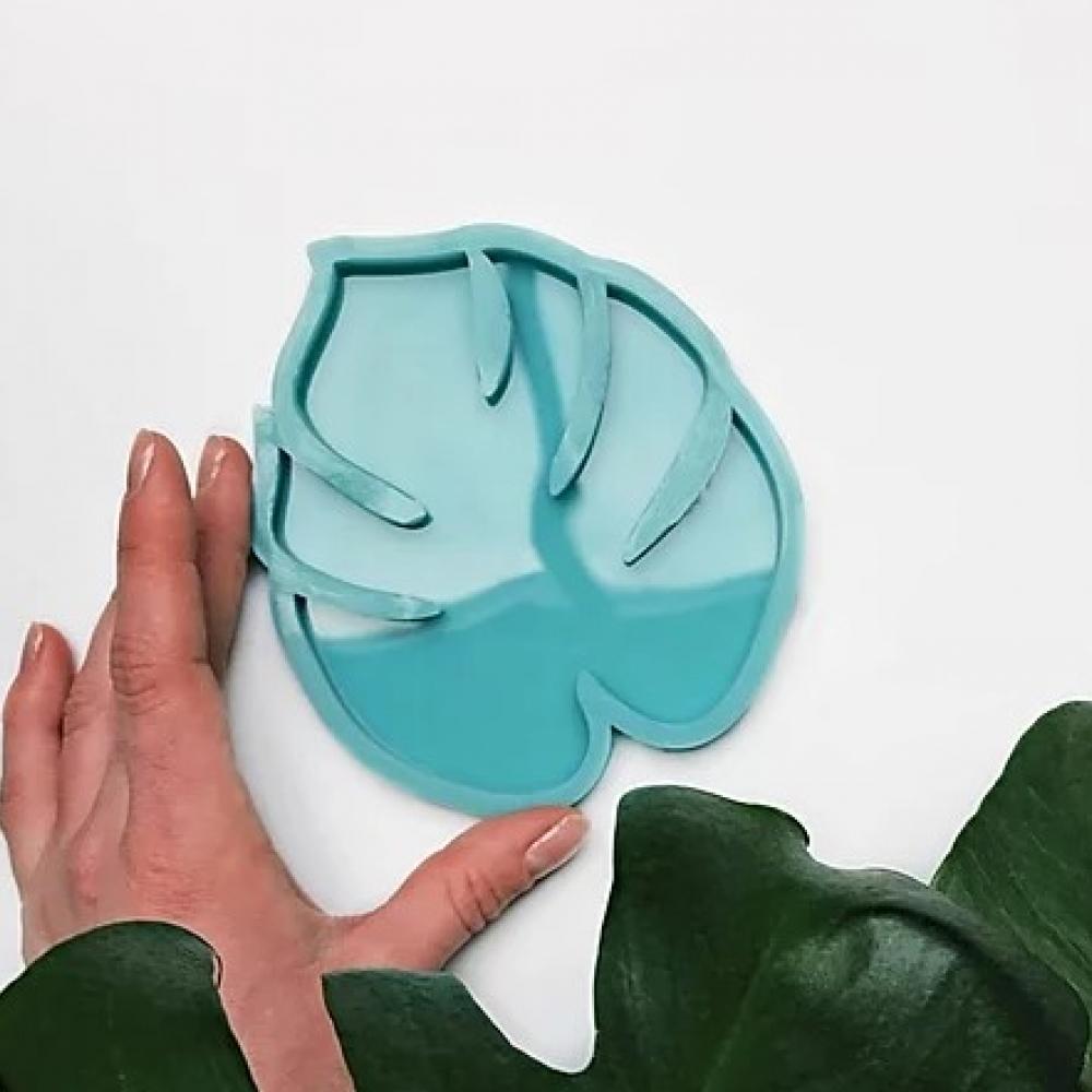 """Молд силиконовый для подстаканников """"Монстера"""" 11х12,5 см. модель №16"""