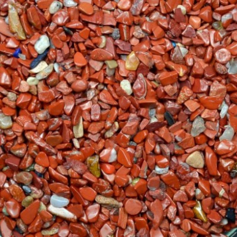 Яшма красная галтовка (мелкая фр., 1-5 мм), натур. 100 гр/упак
