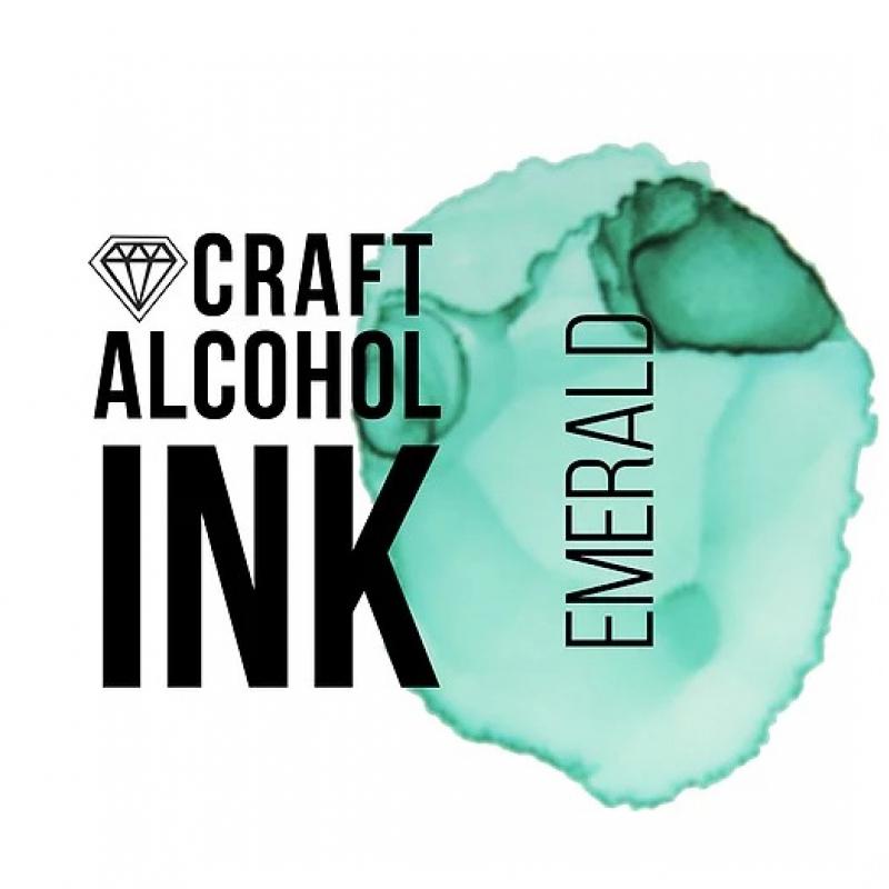 Алкогольные чернила Craft Alcohol INK, з, Emerald, Изумруд, 20 мл