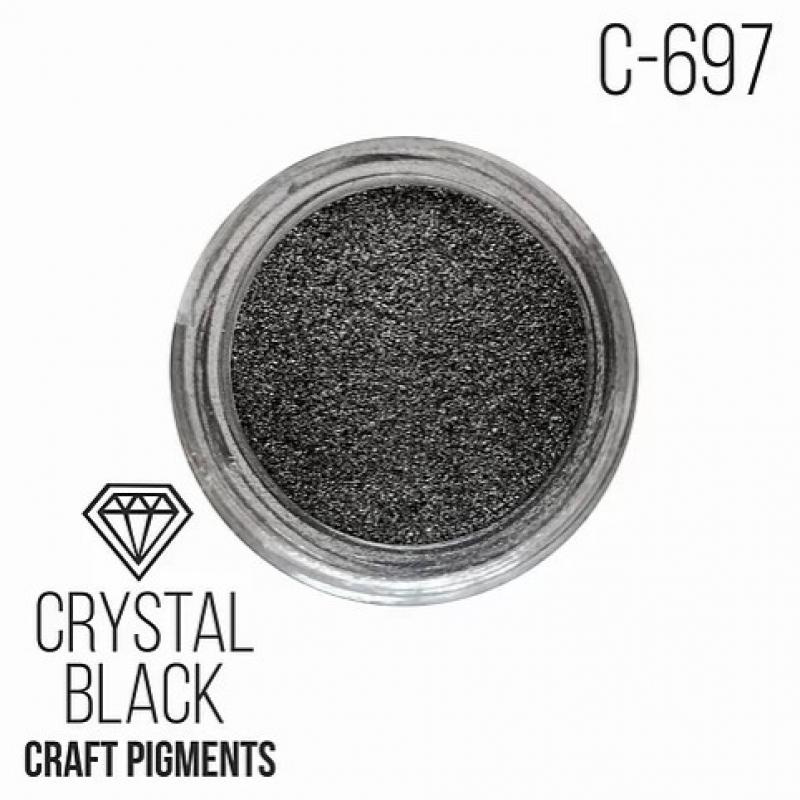 """Пигмент CraftPigments Кристаллический черный """"Crystal black"""", 25 мл."""