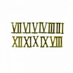 Цифры римские пластиковые 25 мм. золото