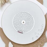 Резная зеркальная накладка для часов, серебро, диаметр 12 или 15 см. ( диаметр на выбор)