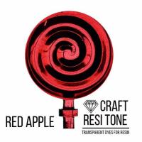 Прозрачный тонер для эпоксидной смолы, Красный, Red, 10 мл.
