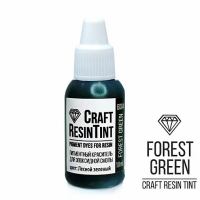 Краситель для смолы и полимеров CraftResinTint, з, Лесной зеленый, 10 мл.