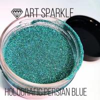 Глиттер мелкий е, Holografic Persian Blue, 50 гр