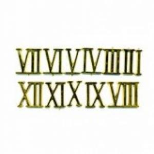 Цифры римские пластиковые 30 мм. золото