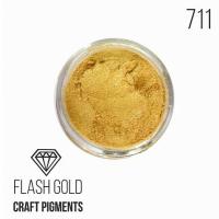 """Пигмент CraftPigments, б, Сияющее золото """"Flash Gold"""", 25 мл."""