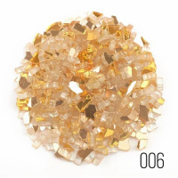 Стеклянная крошка LusterGlass Premium Gold, фракция 7-15 мм, 250 и 500 гр./упак (для заказа нужно выбрать вес упаковки)