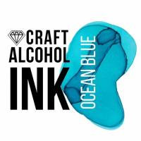 Алкогольные чернила Craft Alcohol INK, с, Ocean Blue, Бирюзовый, 20 мл.
