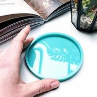 Молд силиконовый для подстаканников (костеров), круг 10 см., модель №11