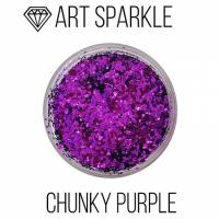 Глиттер крупный ф, Chunky Purple, 50 гр