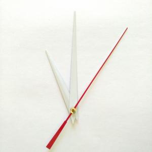 Стрелки для часов, белые (час. 80 мм, минут. 120 мм) 617 LZ  (при заказе нужно выбрать цвет секундной стрелки)