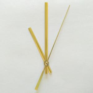 Стрелки для часов, золото (час. 75 мм, минут. 115 мм) 3197 LZ  (при заказе нужно выбрать цвет секундной стрелки)
