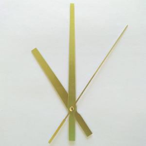 Стрелки для часов, золото (час. 95 мм, минут. 141 мм, секундная) 619 ЧМ (при заказе нужно выбрать цвет секундной стрелки)