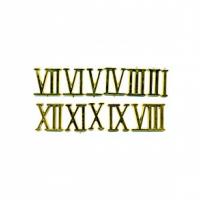 Цифры римские пластиковые 20 мм. золото