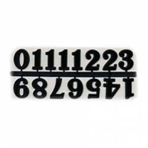 Цифры арабские пластиковые 25 мм. черные