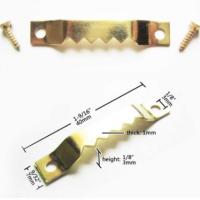 Набор креплений (подвесов) №9 зубчатые с винтами, металл, золото 4 х 0,7 см, 10 шт./упак