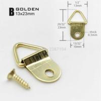 Набор креплений (подвесов) №8, малые, с винтами, металл, золото 2,3 х 1,3 см, 10 шт./упак
