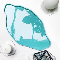 Молд силиконовый в виде среза камня - сырная тарелка, модель №6