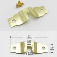 Набор креплений (подвесов) №10, большие, с винтами, металл, золото 5х1 см, 2 шт./упак