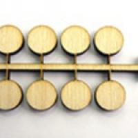 Деления (точки) для часов (вместо цифр), диаметр 10 мм. 12 шт., дерево