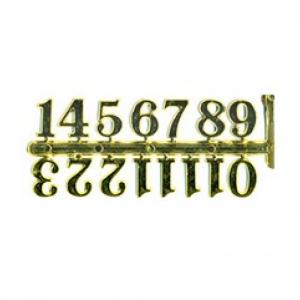 Цифры арабские пластиковые 30 мм. золото