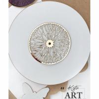 Резная зеркальная накладка для часов, золото, диаметр 12 или 15 см. (диаметр на выбор)