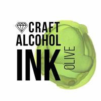 Алкогольные чернила Craft Alcohol INK, з, Olive, Оливковый, 20 мл.