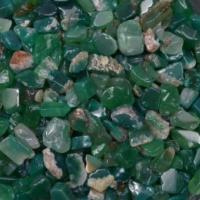 Агат зеленый галтовка (средняя фр., 5-15 мм), натур. 100 гр/упак