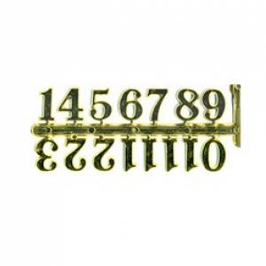 Цифры арабские пластиковые 25 мм. золото