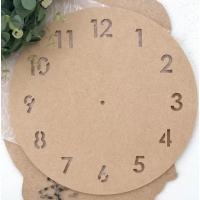 """Заготовка """"Часы"""" №8 с арабскими цифрами, МДФ 6 мм., диаметр 30 см."""