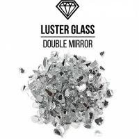 Стеклянная крошка LusterGlass Зеркальная двусторонняя, 3-6 мм, 250 и 500 гр./упак (для заказа нужно выбрать вес упаковки)