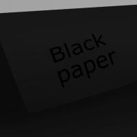 Чёрный матовый картон  50 х 70 см. плотность: 280 mkn, лист